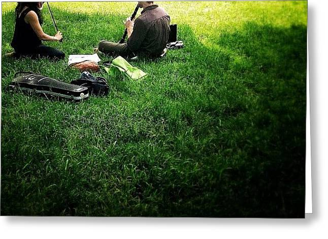 Music On A Grassy Knoll Greeting Card