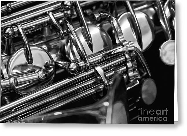 Music Pipes And Machinery Greeting Card by Arik Baltinester