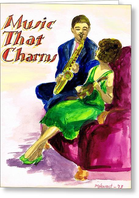 Music That Charms Greeting Card by Mel Thompson