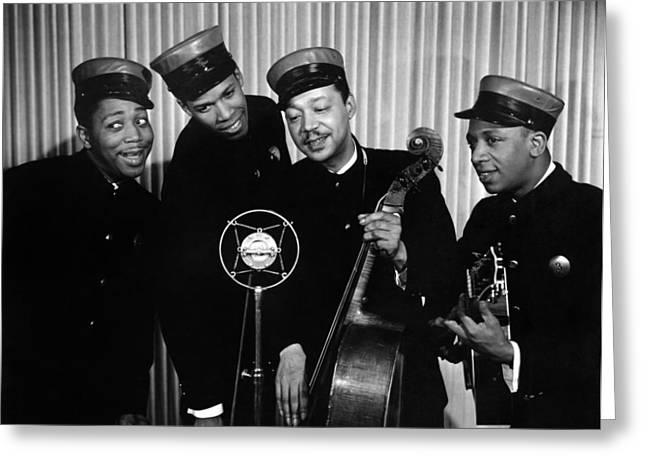 Music: The Ink Spots Greeting Card by Granger