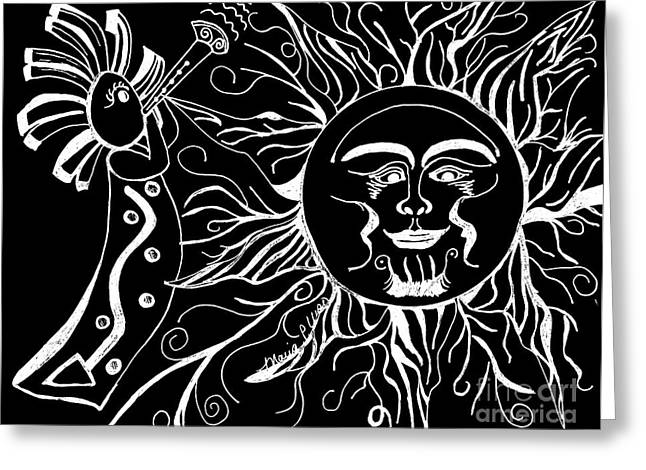 Musical Sunrise - Inverted Greeting Card by Maria Urso