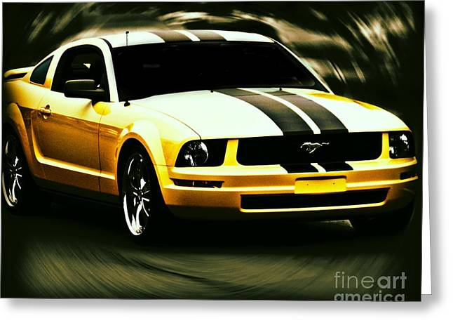 Mustang Greeting Card by Emily Kelley