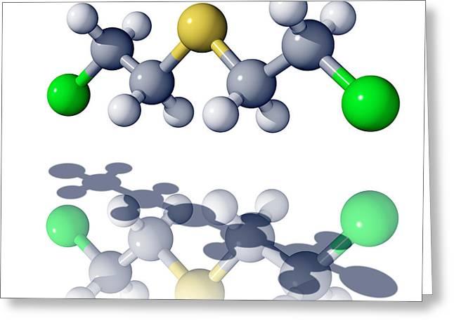 Mustard Gas Molecule Greeting Card by Laguna Design