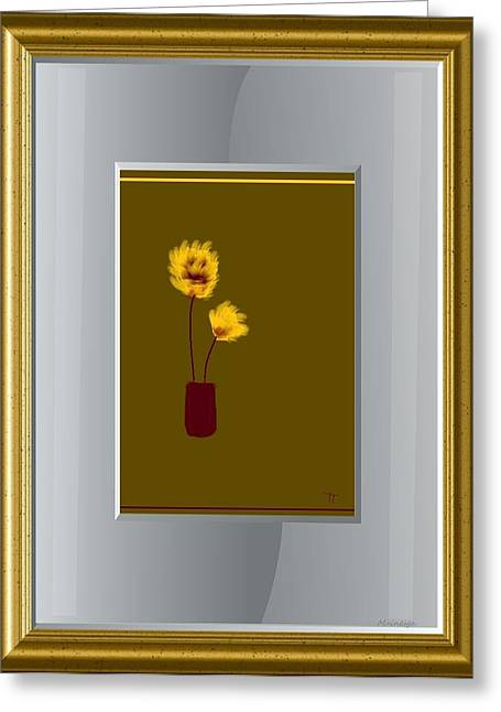 Mustard Vase Greeting Card by Ines Garay-Colomba