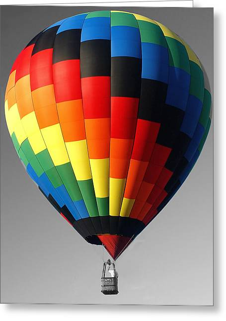 Greeting Card featuring the photograph My Balloon   by Raymond Earley