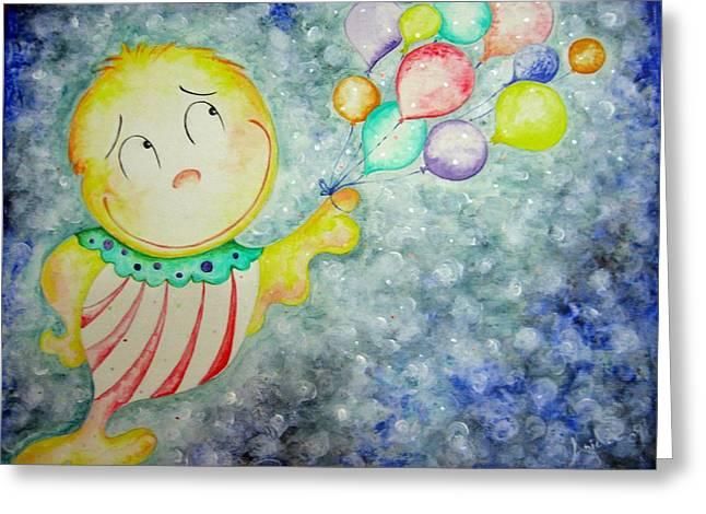 My Baloons Greeting Card by Asida Cheng