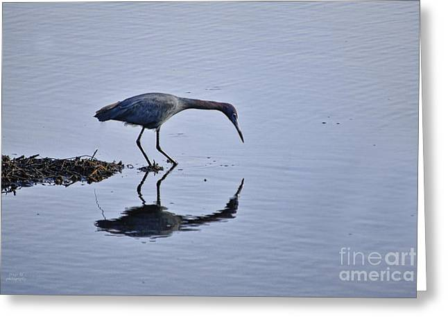 My Blue Reflection Greeting Card by Diego Re