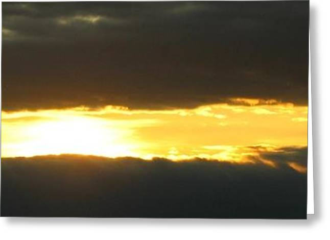 My Cloudy Sunset Greeting Card by Jyvonne Inman