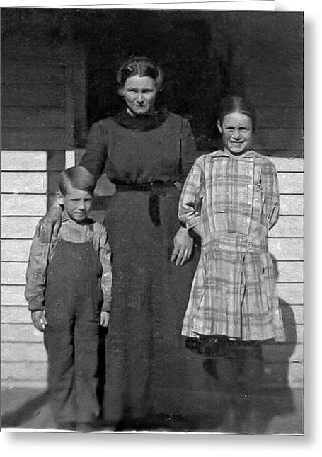 My Dad And Aunt And Grandmother Greeting Card by Ralph Brannan