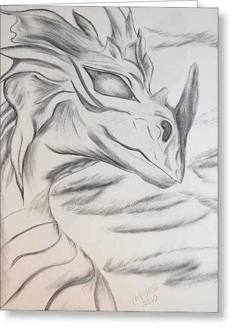 My Dragon Greeting Card by Maria Urso