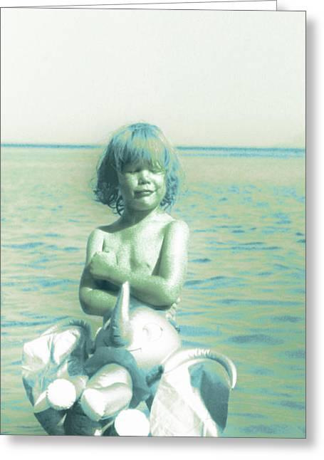 My Elephant - My Ocean - My World Greeting Card by Li   van Saathoff