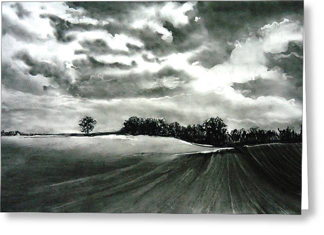 My Farm Land Greeting Card by Mickey Raina