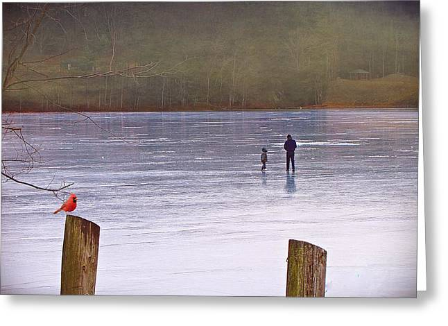 My First Walk On Water Greeting Card
