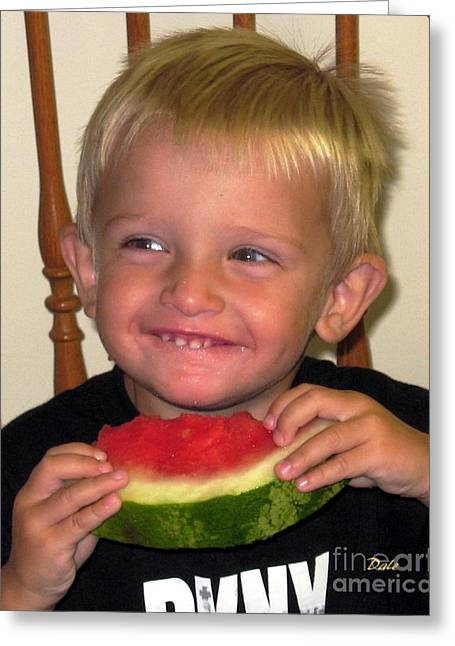 My First Watermelon Greeting Card by Dale   Ford
