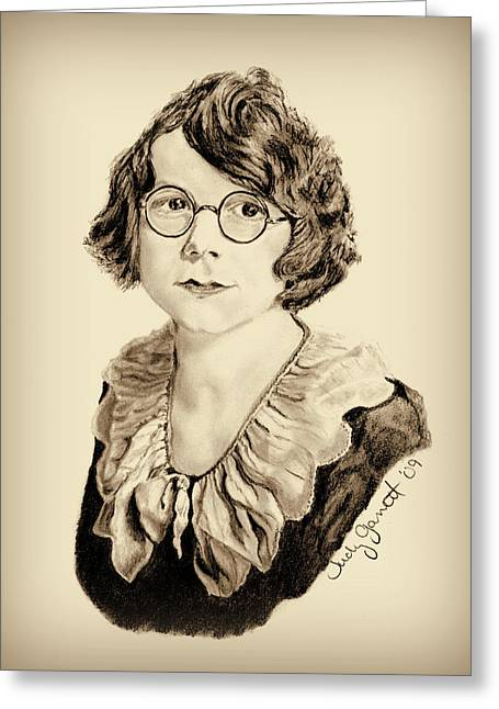 My Grandmother Stella  Greeting Card by Judy Garrett