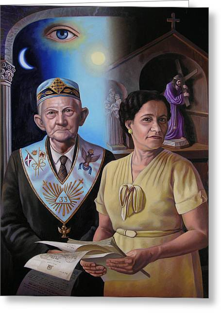 My Grandparents Greeting Card by Miguel Tio
