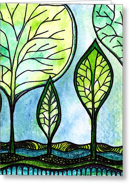 My Green Valley Greeting Card by Robin Mead