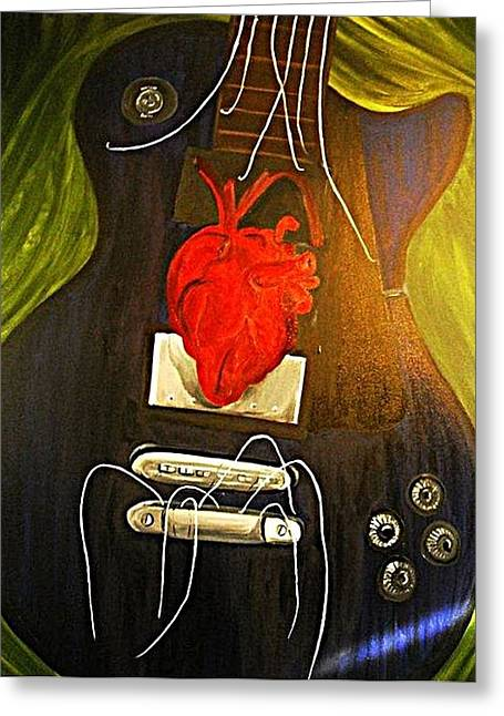 My Heart Is Music Greeting Card by Cristin Chambers
