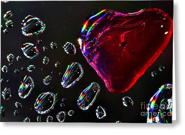 My Heart Greeting Card by Sylvie Leandre