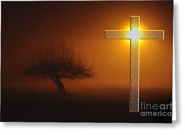 My Life In God's Hands Greeting Card by Clayton Bruster