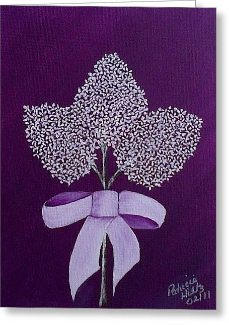 My Lilas Greeting Card by Patricia Hiltz