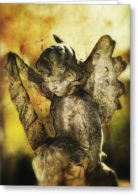 Greeting Card featuring the digital art My Little Angel 02 by Kevin Chippindall