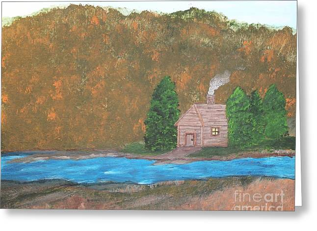 My Little Hide Away Greeting Card by Lorraine Louwerse