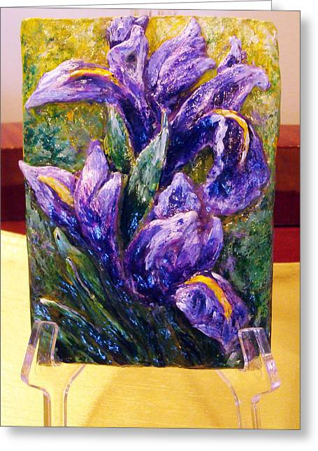 My Mini Irises Greeting Card