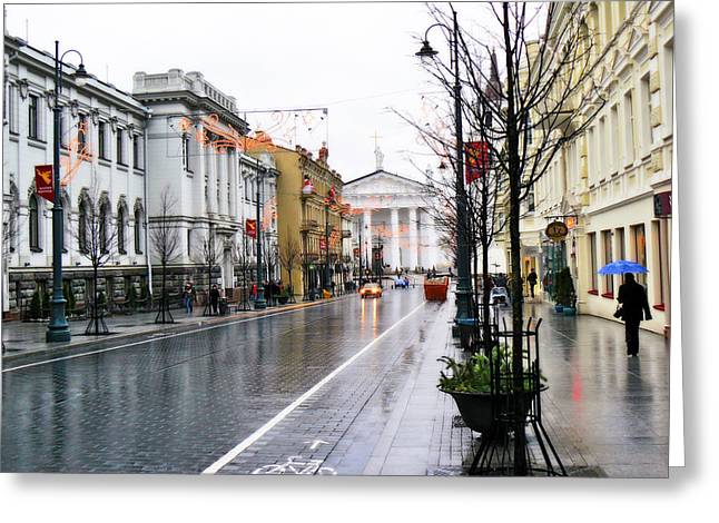 My Rainy City Greeting Card