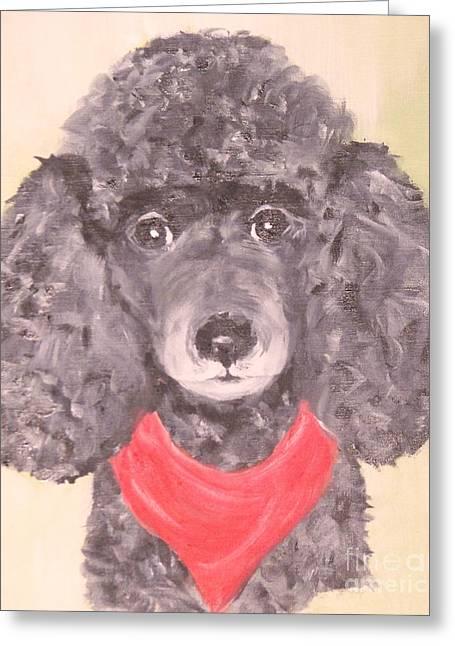 My Red Bandana Greeting Card by Rachel Carmichael