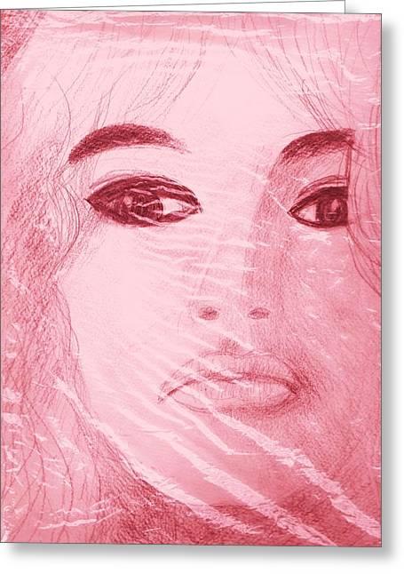 My Sketch Of Brigitte Bardot Greeting Card