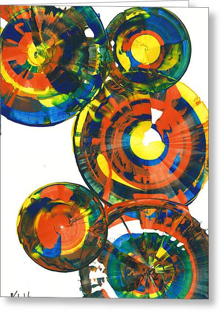 My Spheres Show Happiness  864.121811 Greeting Card