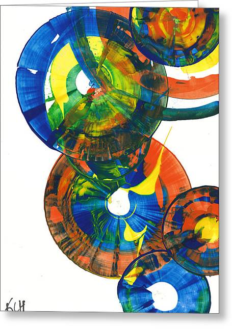 My Spherical Joy '' Jump Up ''  858.121711 Greeting Card by Kris Haas