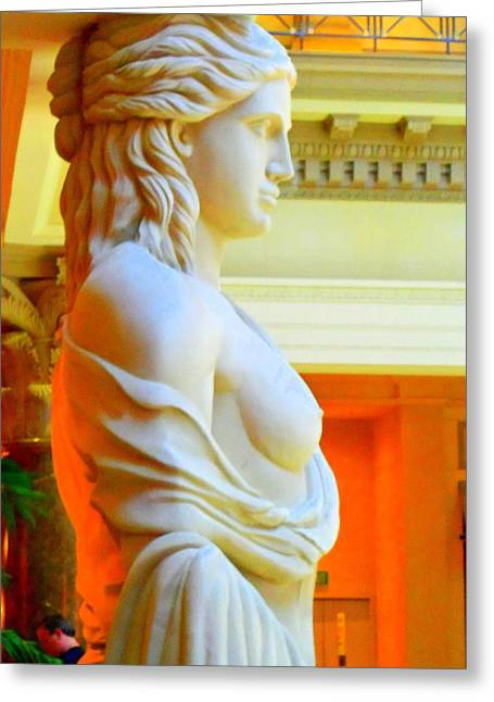 My Vegas Caesars 14 Greeting Card by Randall Weidner