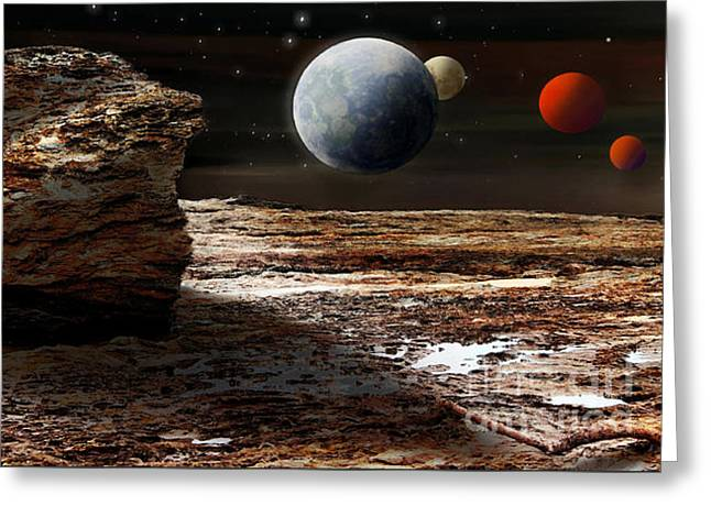 My View From Mars 2 Greeting Card by Kaye Menner