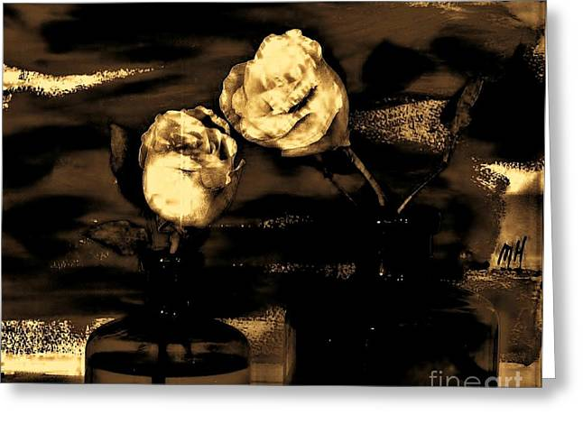 My Vintage Rose Picture Greeting Card by Marsha Heiken
