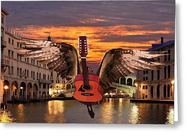 My Worlds Acoustic Greeting Card by Eric Kempson