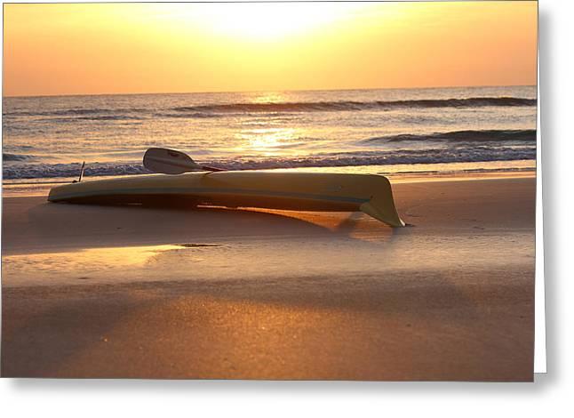 My Yellow Kayak Greeting Card