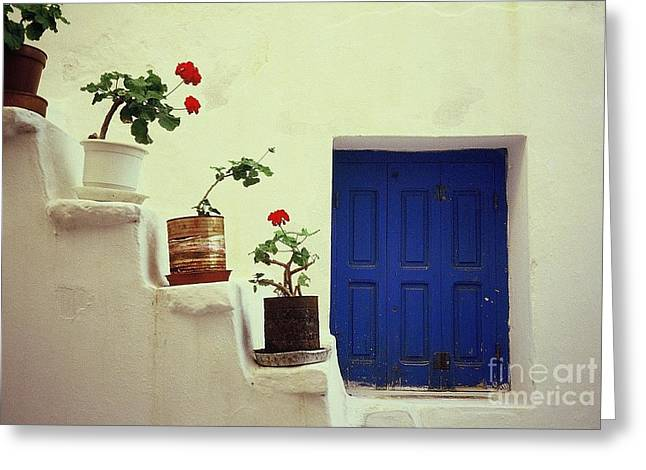 Greeting Card featuring the photograph Mykonos by Ranjini Kandasamy