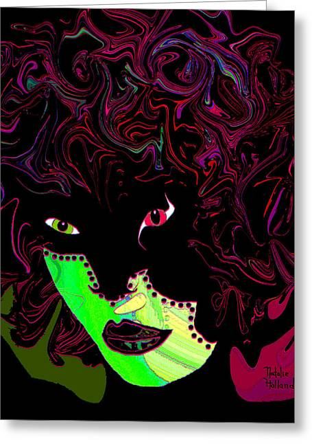 Mysterious Masquerade Greeting Card by Natalie Holland