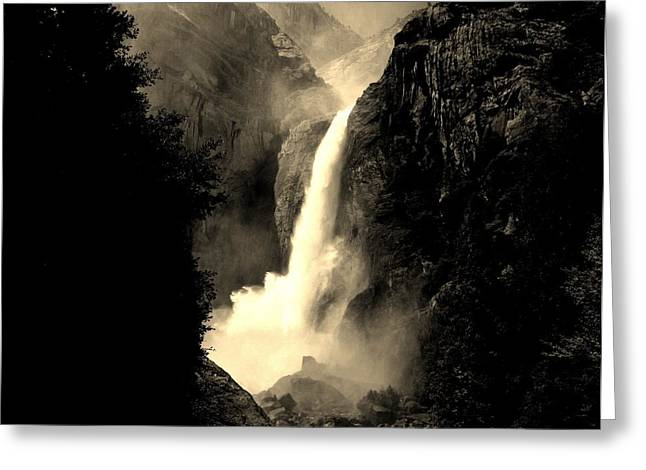 Mystery Falls Greeting Card by Ellen Heaverlo