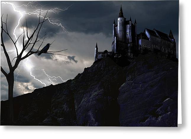Mystery On The Hill Greeting Card