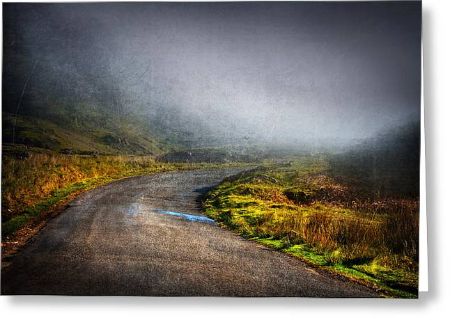 Mystery Road  Greeting Card by Svetlana Sewell