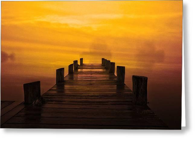 Mystic Dawning Greeting Card by Kim Shatwell-Irishphotographer