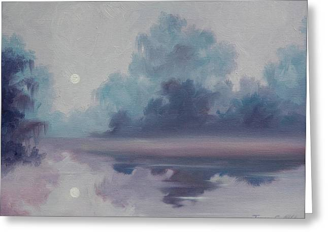 Mystic Moonlight Greeting Card by James Christopher Hill