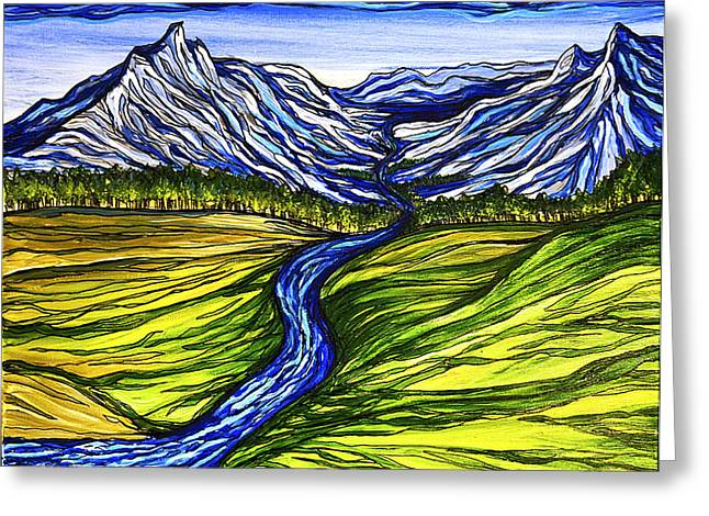 Mystic Mountains Greeting Card by Stephanie Meyer