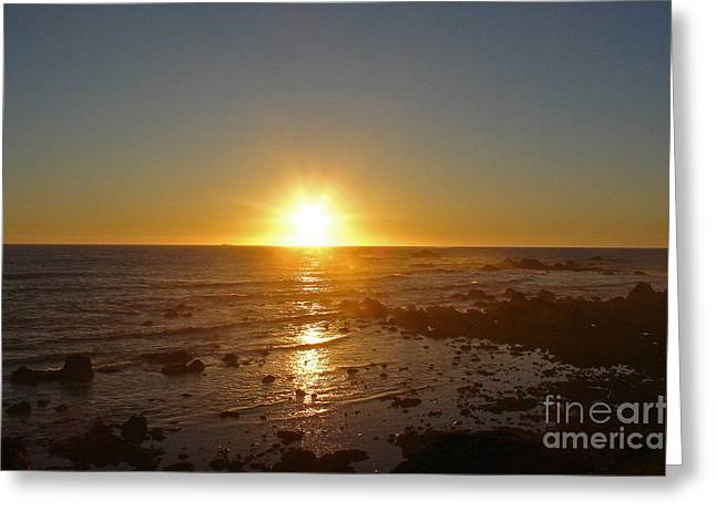 Mystic Sunset 2 Greeting Card by Suze Taylor