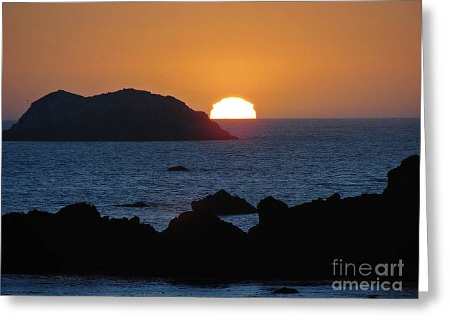 Mystic Sunset Greeting Card by Suze Taylor