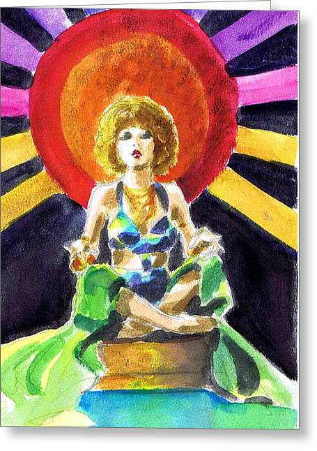Mystic Vamp Greeting Card by Mel Thompson