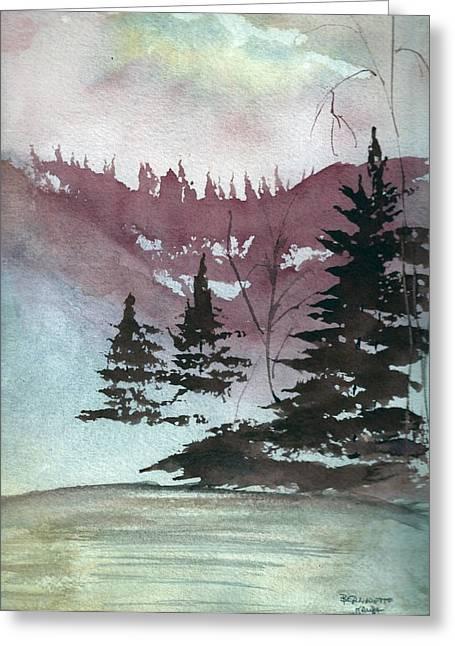 Mystical Pond Greeting Card